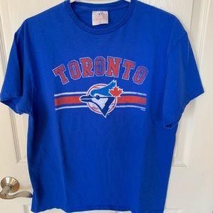 MLB Toronto Bluejays T-shirt Blue Size Large